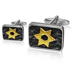 "Image of   Manchetknapper ""Golden stars"""