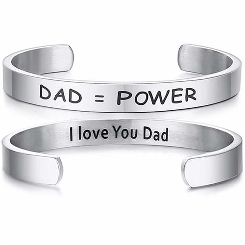 Love my DAD - armbånd i blank stål