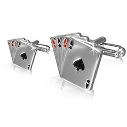 Manchetknapper design Poker