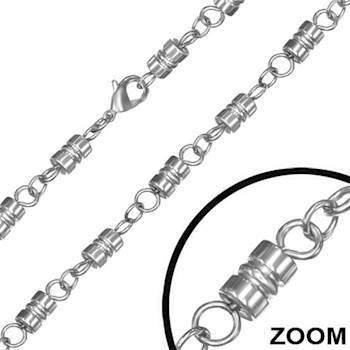 Rustfri stål kæde 56 cm. (6 mm)