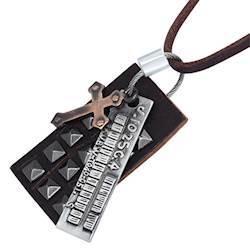 Læderhals-smykke