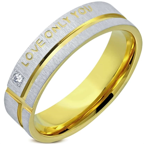 """""""Love only you"""" Goldplated ring."""