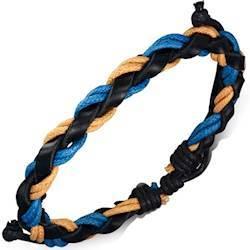Læderarmbånd og bomuld