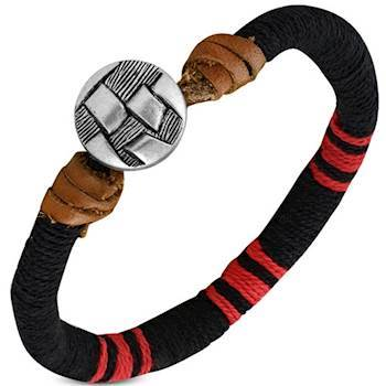 "Image of   Armbånd ""Black/Red"""