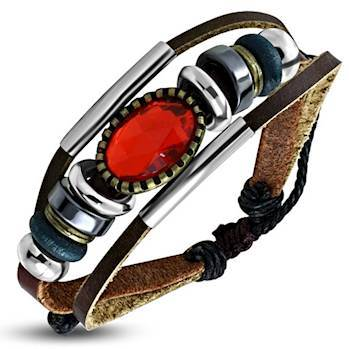 Fashion med rød sten.