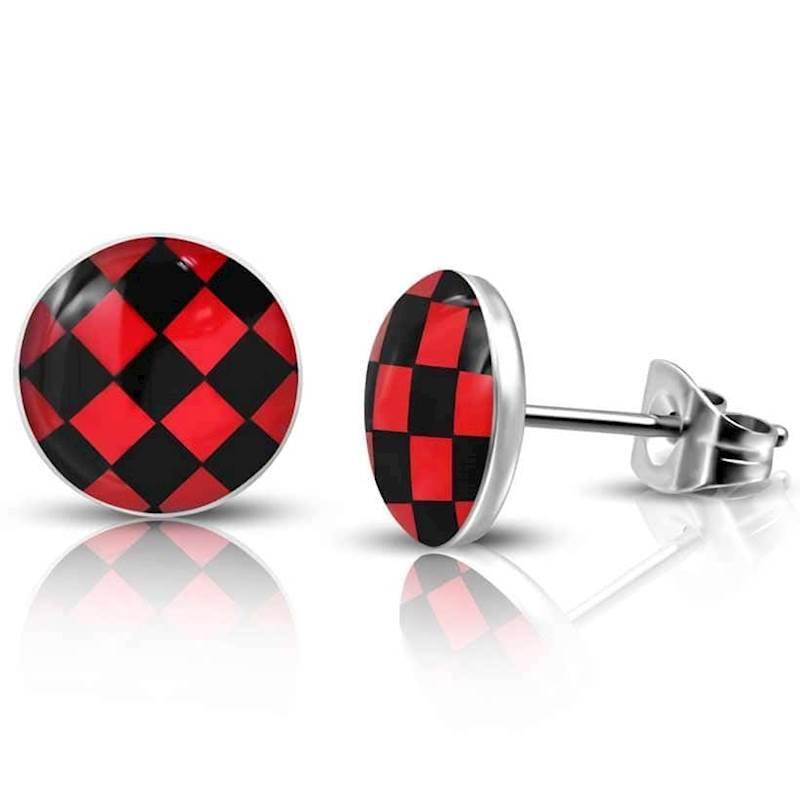 Rød og sort ørestik.