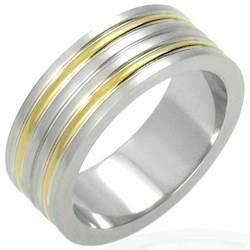 Herre-ring i stål (316L)