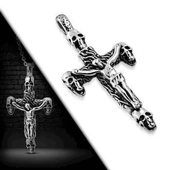 "Stort kors i stål ""Jesus"""