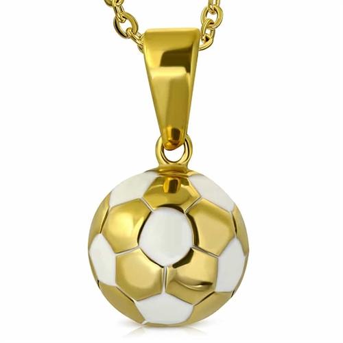 Golden Fodbold i Rustfrit stål