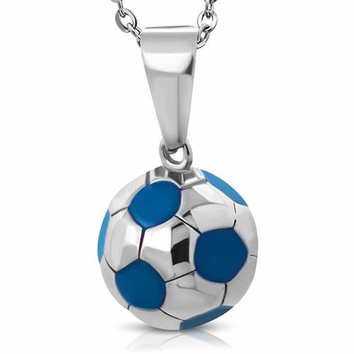 Fodbold i Rustfrit stål Blue big 1.5cm