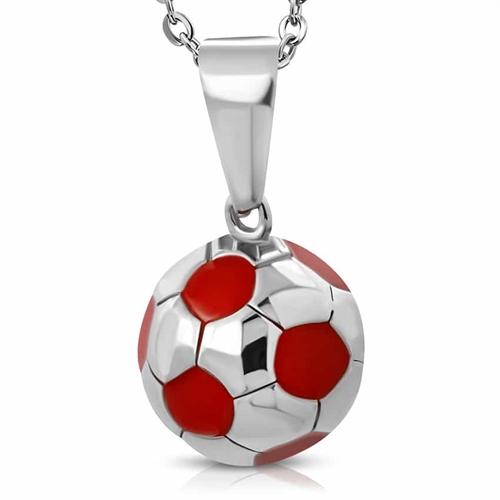 Fodbold i Rustfrit stål Red