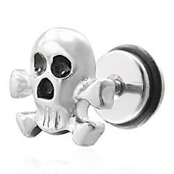 """""""Skull"""" Ørestick (1stk)"""