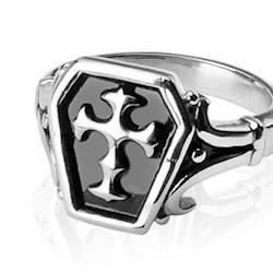 "Image of   ""Cross"" Design i Rustfri stål"