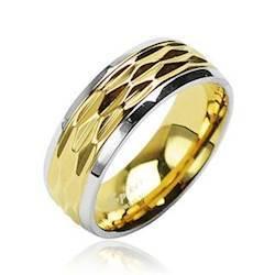 "Image of   Ring""Rustfri stål"" Goldplated."