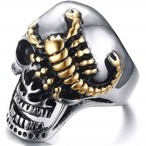 Skull Skorpion Ring