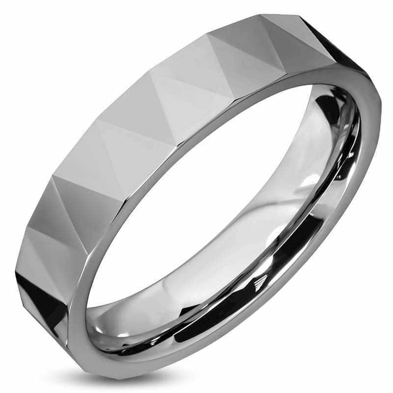 Image of   Facet tungstenring 6mm
