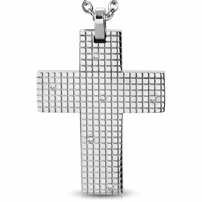 Kors med sten i stål.