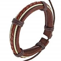 Læderarmbånd i moderne design