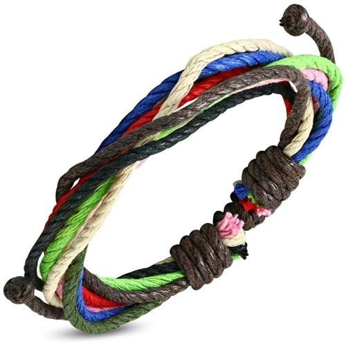Bomuld armbånd i friske farver