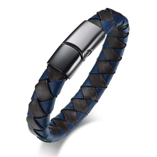 TK blue læderarmbånd