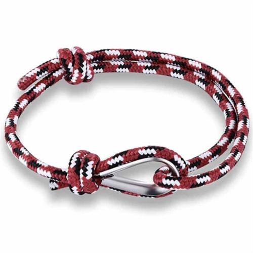 Robe rød hvid / armbånd 15-21 cm