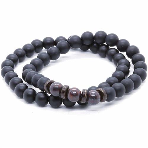 Black pearls / 2 stk perlearmbånd
