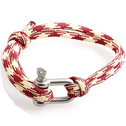 Good Sailor armbånd rød/beige Buck