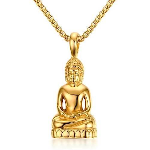 Buddha gold halssmykke