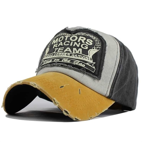 Image of   Yellow/Grey Racing team cap