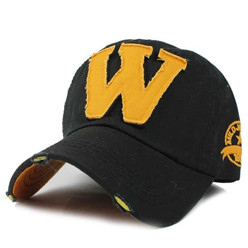 W Cap i sort og gul