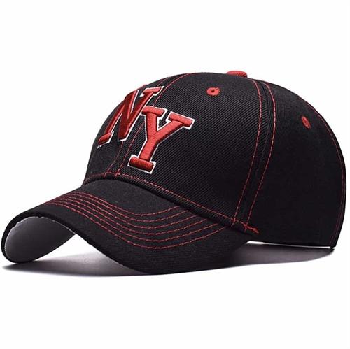 NY baseball cap Black