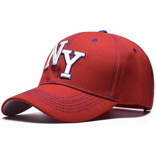 NY - baseball cap Red