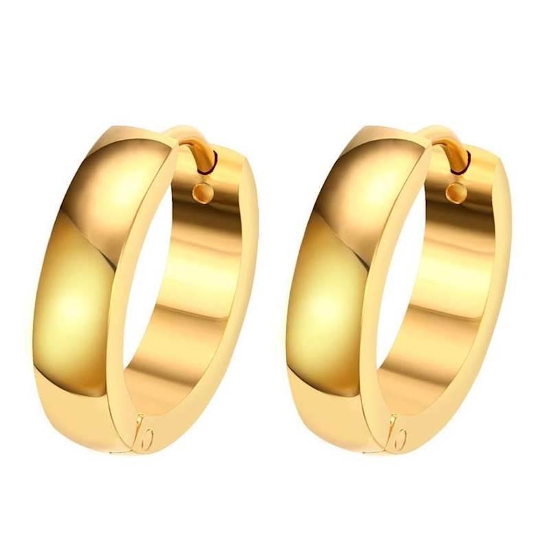 Lækre øreringe med guld farve, 1 stk.