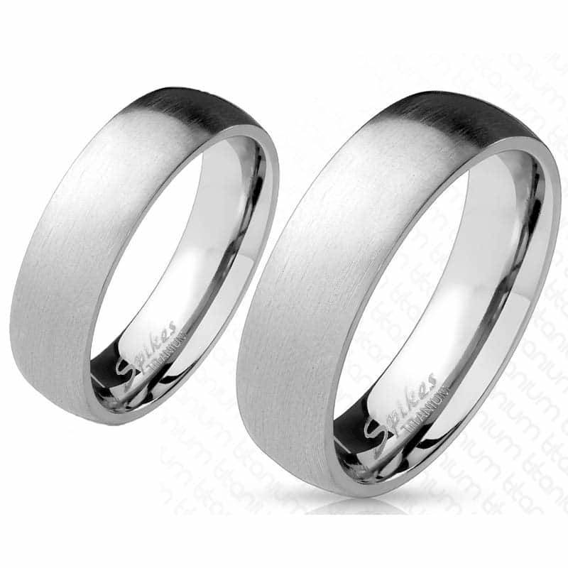 Image of   Titanium ring matteret