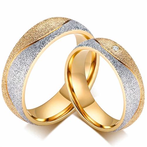 Image of   Brusch forlovelses eller vielsesring