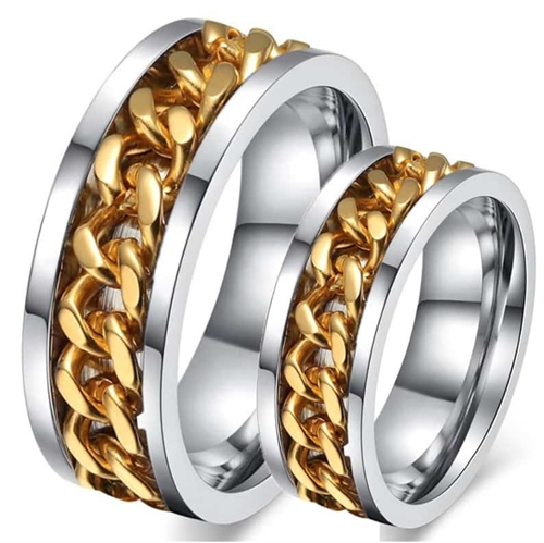 Image of   Golden chain forlovelsesring