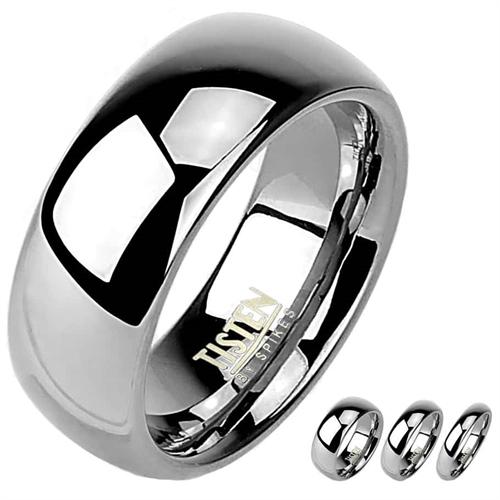 Image of   Titanium/Tungstenring i enkelt design.