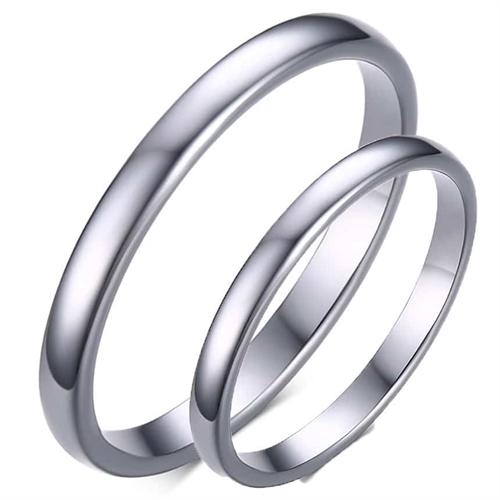 """Image of   Tungsten forlovelsesring """"Blank"""""""