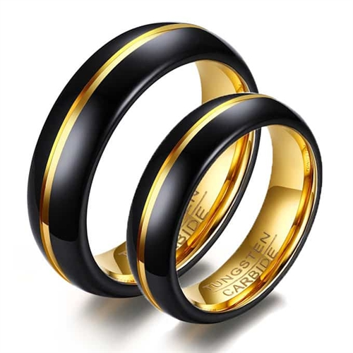 Image of   HQ tungsten forlovelsesring