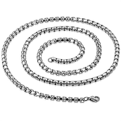 Image of   Blok kæde i rustfrit stål 59 cm - 3,3mm