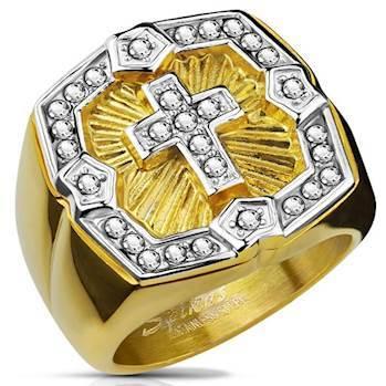 Stor flot ring PVD Gold