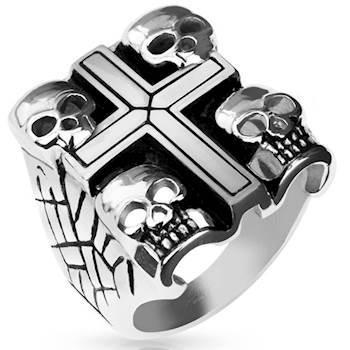 "Image of   ""Design ring"" 4 times skull."