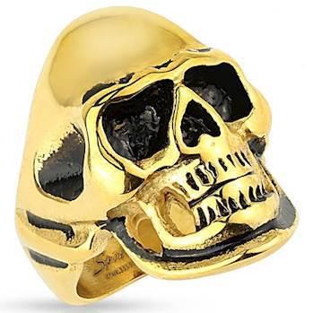 Gylden skull ring