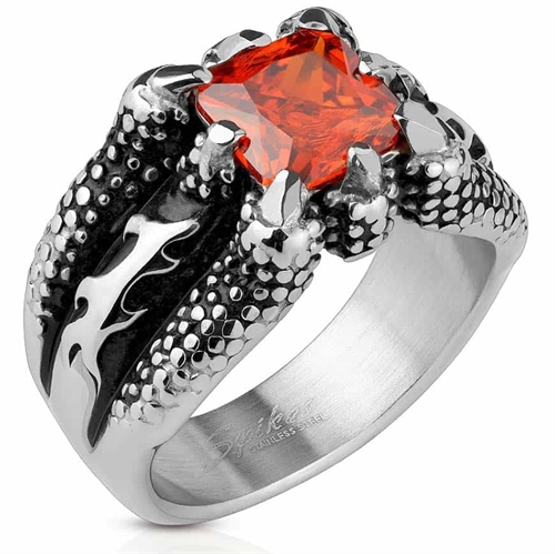 Red stone claw - bikerring
