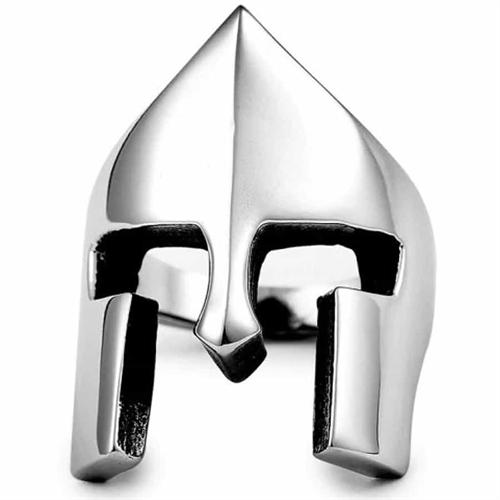 Sparta-hjelm herrering i stål.