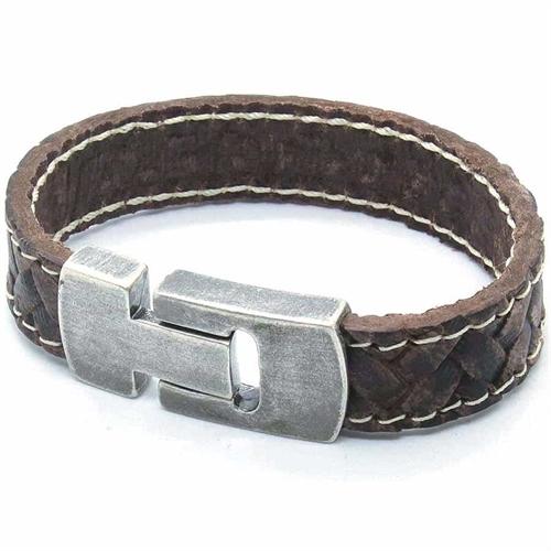 MaZo herre læder armbånd brun