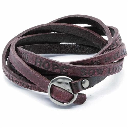 Dark string - læderarmbånd.