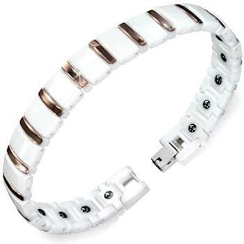 "Keramik armbånd ""White"" 20cm"