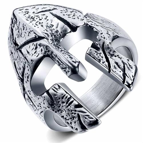 Kriger-hjelm ringen i stål.