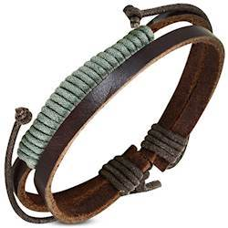 "Image of   Armbånd ""Army Leather"""